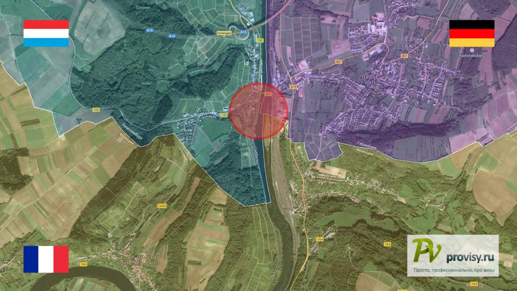 Шенген map