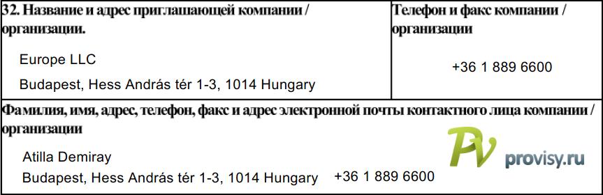 Как заполнить анкету на визу в Венгрию