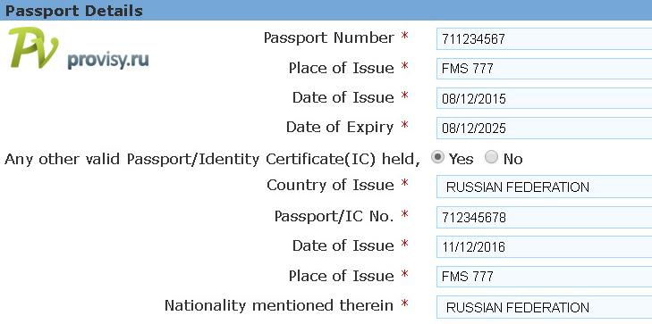 india-Pasport Details