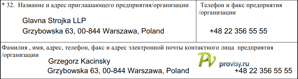 Как заполнить анкету на визу в Польшу